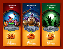 Set Of Banners For Halloween P...