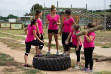 Female Fitness Coach Instructi...