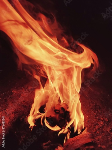 Fototapety, obrazy: fire in the fireplace