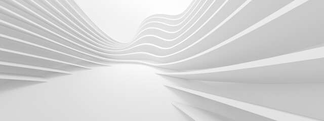 Abstract Floor Background. White Futuristic Texture