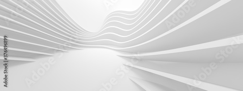 Fotografering Abstract Floor Background. White Futuristic Texture