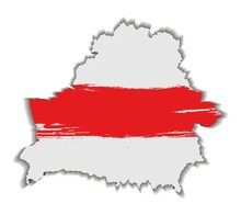 Map Of Belarus With Flag