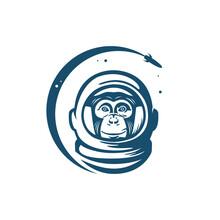 Space Monkey, Vector Illustration