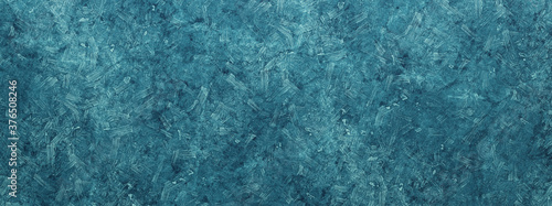 Blue or turquoise paint daubs abstract background Fototapet