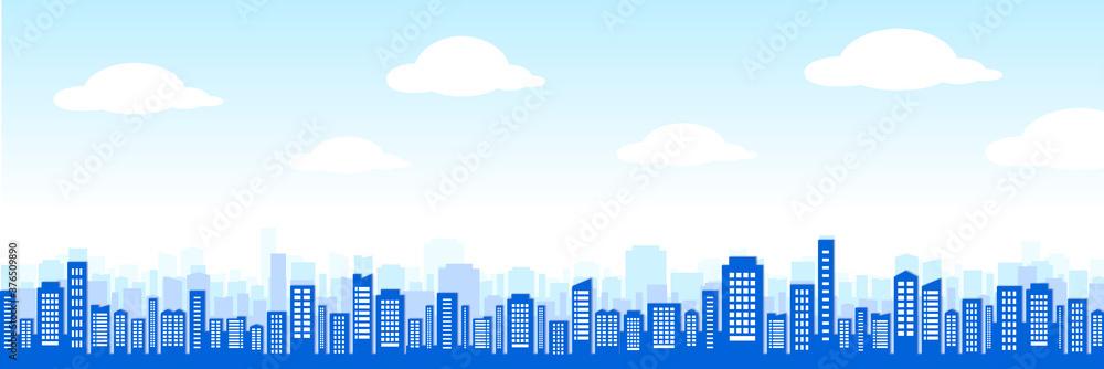 Fototapeta business city set ビル群・都会の街並み
