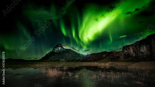 Fotografiet northern lights aurora borealis
