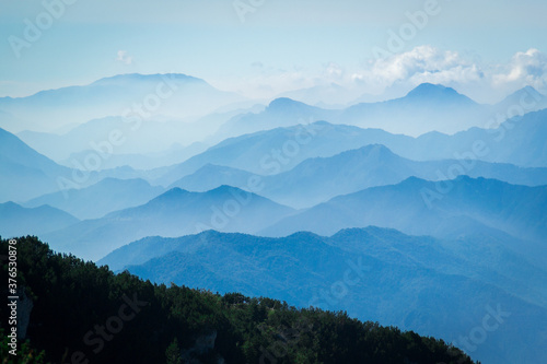 Montagne a livelli Fototapet