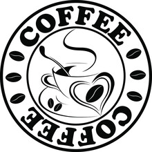 Stamp With The Word Coffee