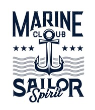 Marine Sailing Club Retro Embl...