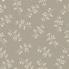 Seamless Floral Pattern Of Spr...
