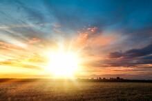 Colorful Sky And Sunrise. Natu...