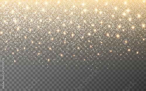 Glitter light on transparent background Fototapet