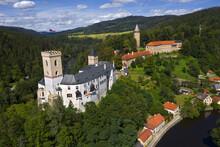 Rozmberk Nad Vltavou Castle (Rozmberk Above River Vltava), Czech Republic