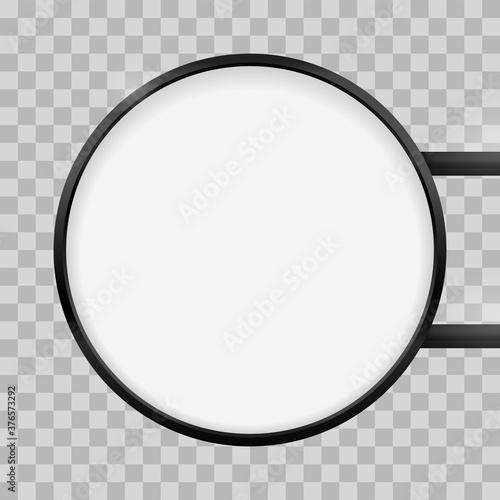 Fotografia Round signage light box signboard