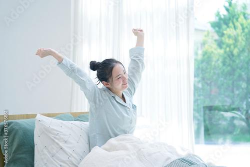 Fotografie, Tablou 女性 起床