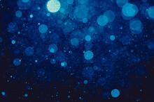 Blue Bokeh Of Lights