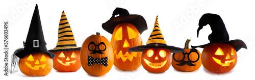 Jack O Lantern Halloween pumpkins
