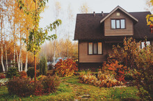 Autumn Wooden Country House An...