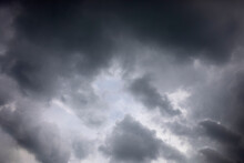 Dark Sky And Gray Clouds Storm...