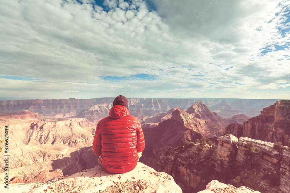 Fototapeta Hike in Grand Canyon