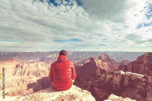 Vászonkép Hike in Grand Canyon
