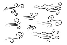 Hand Drawn Air Wind Doodle Blo...