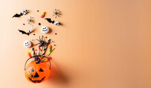 Top View Of Halloween Crafts, ...