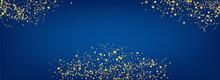 Yellow Ribbon Celebrate Vector Panoramic Blue