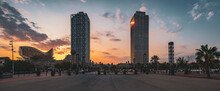 Panorma Of A Sunset In Barcelo...
