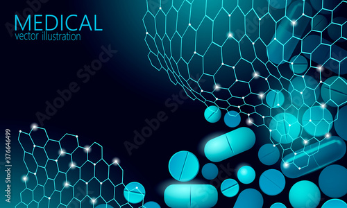 Tablou Canvas Drug capsule medicine business concept