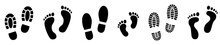 Set Different Human Footprints...