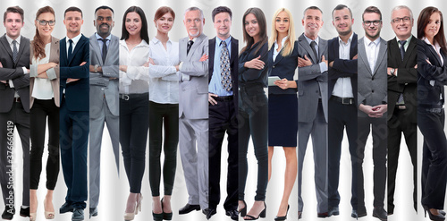 Fotografie, Tablou in full growth. modern successful business people.