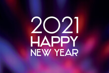 2021 Happy New Year Festive Purple Background Stock Images. 2021 New Year Sign On A Blurred Purple Shiny Background. Happy New Year 2021 Red Violet Greeting Card Images