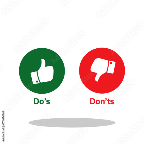 Do's and Don'ts icon in trendy flat style Canvas Print