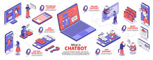 Isometric Chat Bot Infographics