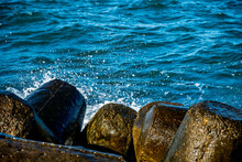 Close Up Of Rocks And Waves Cr...