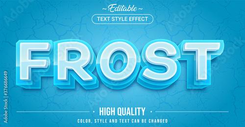 Obraz Editable text style effect - Frost theme style. - fototapety do salonu