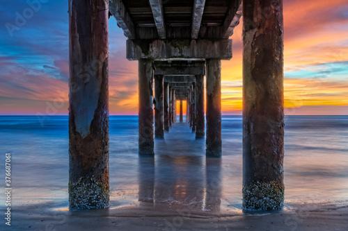Sunrise Under The Pier In St. Augustine Florida Canvas-taulu