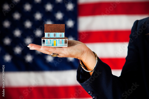 Politician: Housing Industry Concept Canvas Print