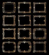 Art Deco Gold Frames. Golden L...