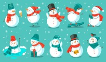 Snowman. Cheerful Christmas Sn...