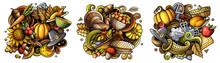 Thanksgiving Cartoon Vector Do...