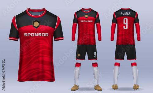 Obraz na plátně t-shirt sport design template, Soccer jersey mockup for football club