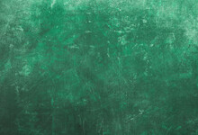 Scraped Grungy Green Background