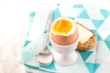 Soft Boiled Egg With Bread And...