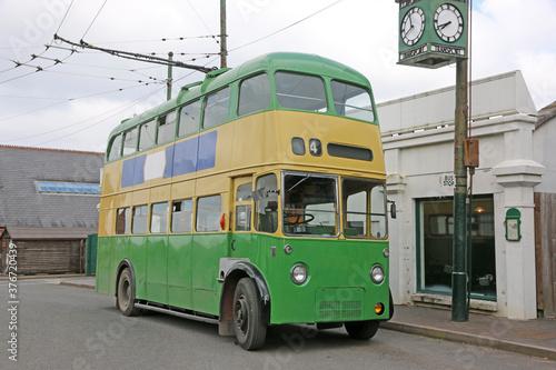 Vintage double decker bus Canvas Print