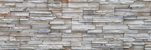 Stone Background Walls Are Stacked. Stone Cladding Background And Wallpaper.