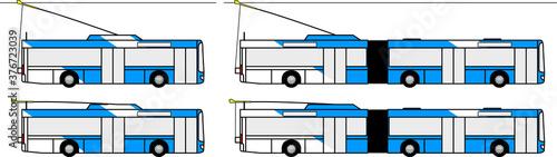 trolley bus - electric bus - trolejbus - trolley - city - transport - public tra Fototapet