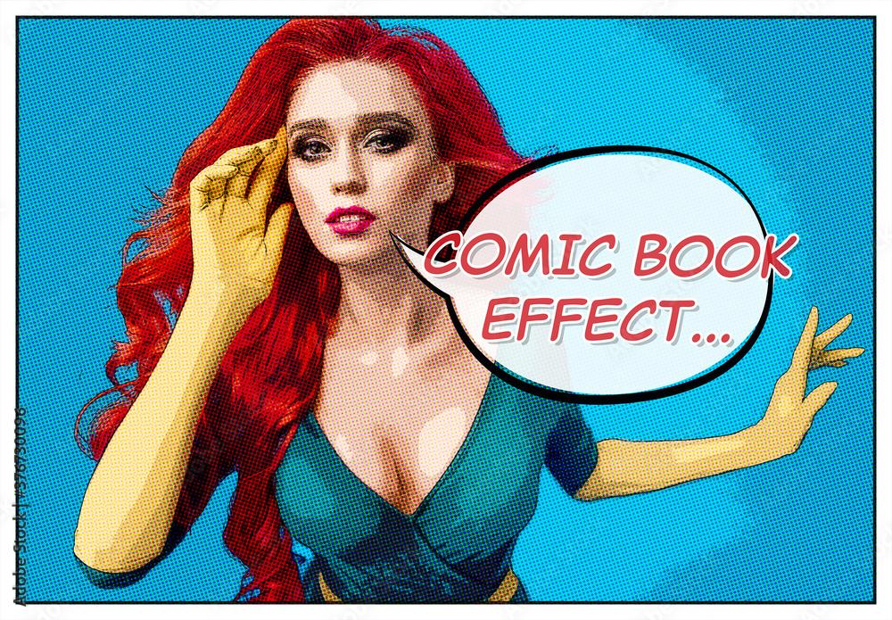 Fototapeta Comic Book Photo Effect Mockup