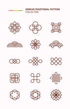 한국 전통 문양 아이콘.